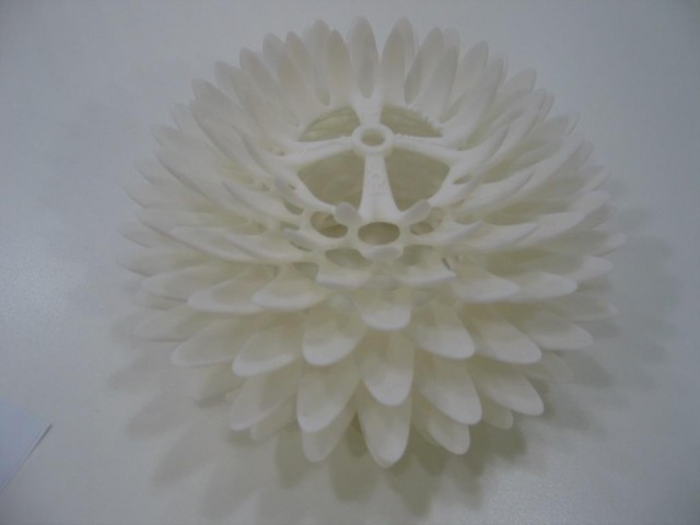 3D printed flower, courtesy 3D Systems