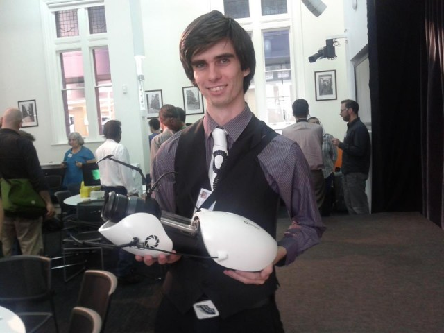 Cameron from ANAT with Portal gun