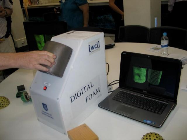 Ross Smith from UniSA Digital Foam demo